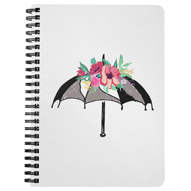 Flora Umbrella Spiral Notebook - Artski&Hush