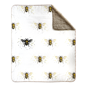 Bee the One Fleece Sherpa Blankets - Artski&Hush
