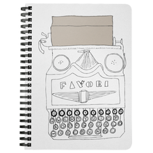 Load image into Gallery viewer, Vintage Typewriter Spiral Notebook - Artski&Hush