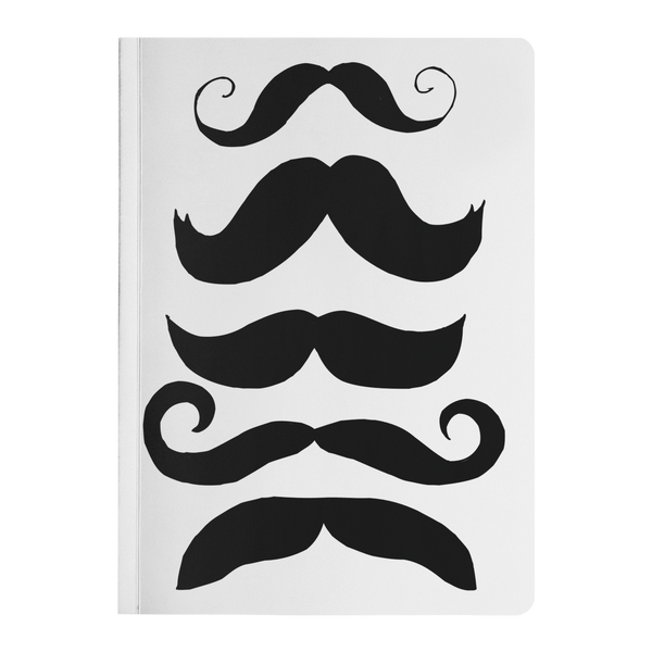 Mustache Club Paperback Notebook