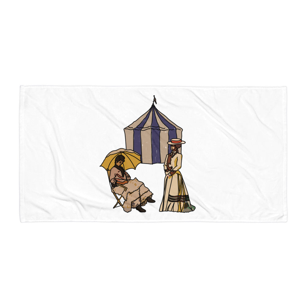 Ladies at the Tent Beach Towel