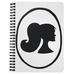 Female Profile Spiral Notebook