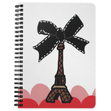 Paris Bow Spiral Notebook