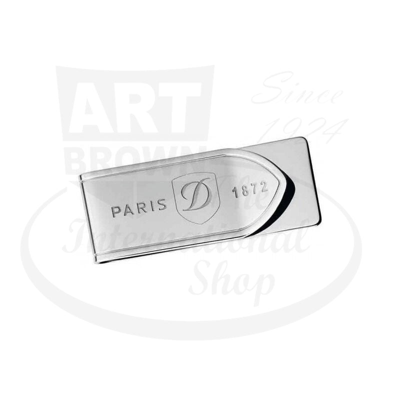 ST Dupont Stainless Steel Money Clip With Logo, 003081