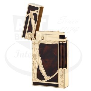 ST Dupont Ligne 2 Prestige Vitruvian Man Lighter Open