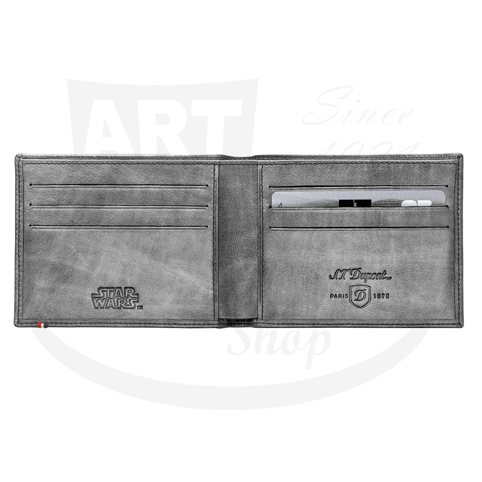 Open ST Dupont Silver Star Wars 6 Credit Card Billfold