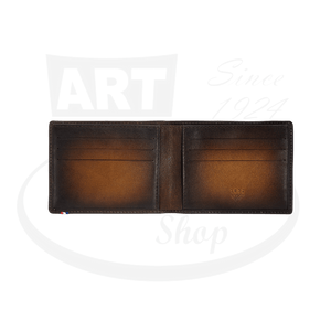 Open ST Dupont Atelier Brown 6 Credit Card Billfold