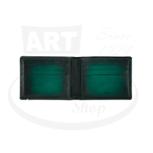 Load image into Gallery viewer, Open ST Dupont Atelier Green 6 Credit Card Billfold