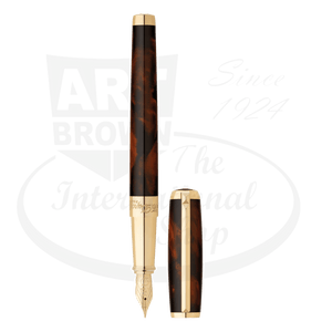 ST Dupont Line D Fine Atelier Brown Lacquer Fountain Pen