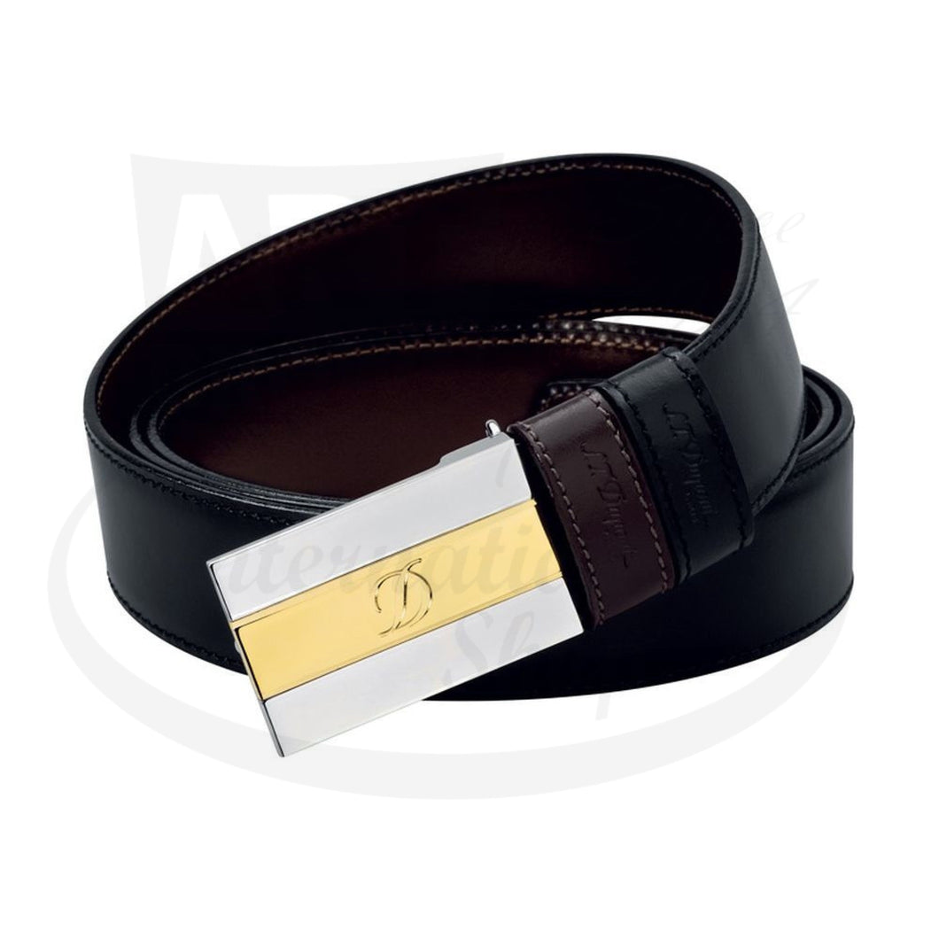ST Dupont Iconic Gold and Palladium Belt, 6660120