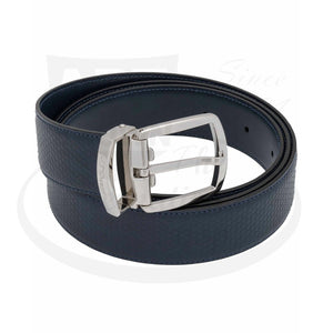 ST Dupont Tony Stark Navy Blue Leather Belt