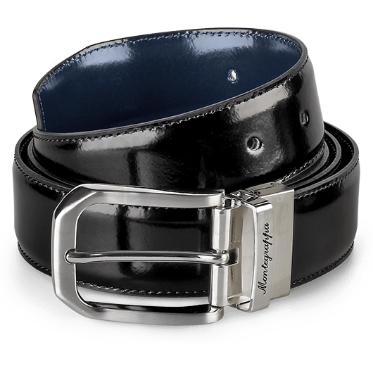 Montegrappa Cowhide Belt Black/Blue 35mm