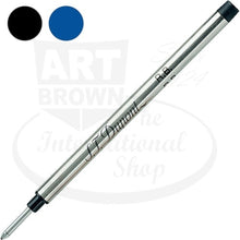 Load image into Gallery viewer, st dupont medium black blue rollerball pen ink refill