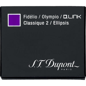 st dupont purple ink fountain pen cartridge