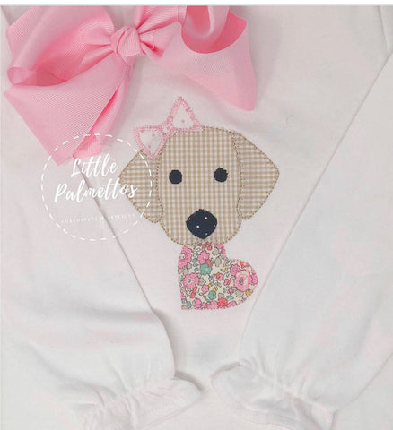 Valentines Lab Shirt with Bow