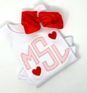 Valentines Initial Heart Shirt