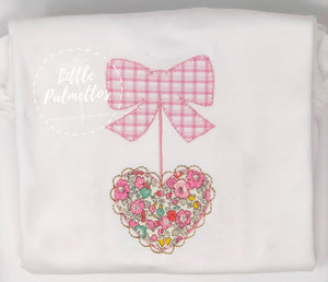 Valentine's Scallop Heart Applique