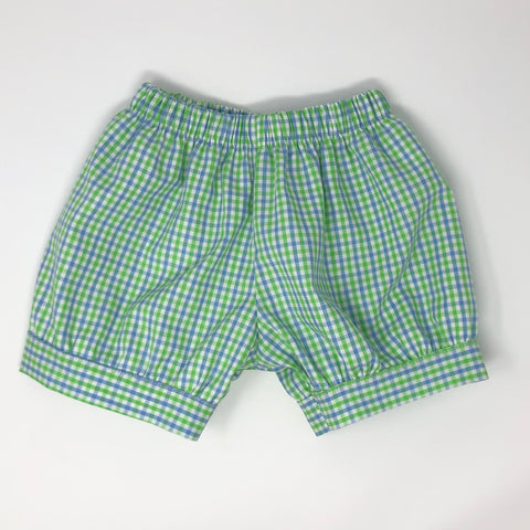 Blue and Green Gingham Shorts (Multiple Styles)