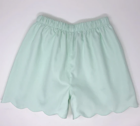 Girls Pique Scallop Shorts