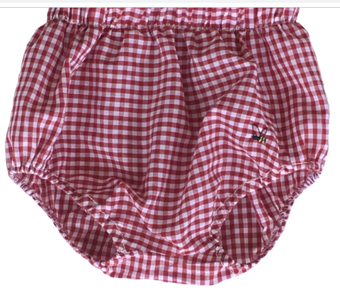 Unisex Gingham Diaper Cover