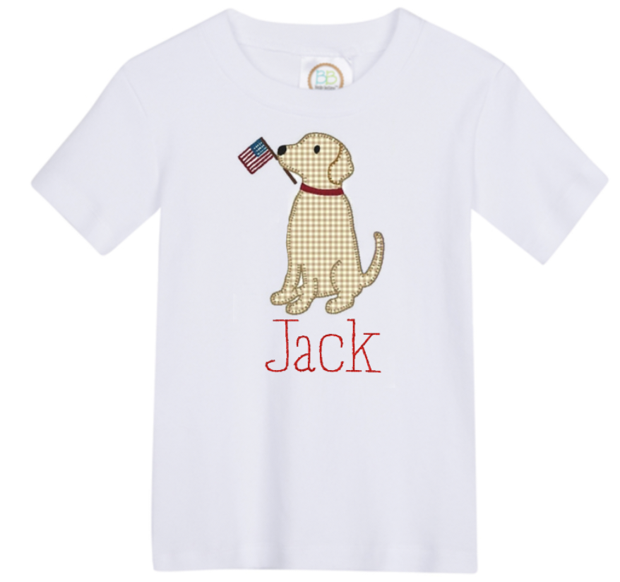 Boy Patriotic Dog Shirt
