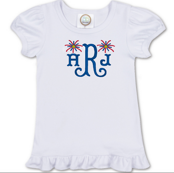 Girl Firework Monogram Shirt