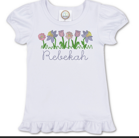 Row of Flowers Shirt