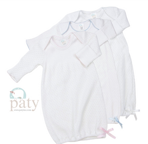 Paty Trim Newborn Gown with Hat