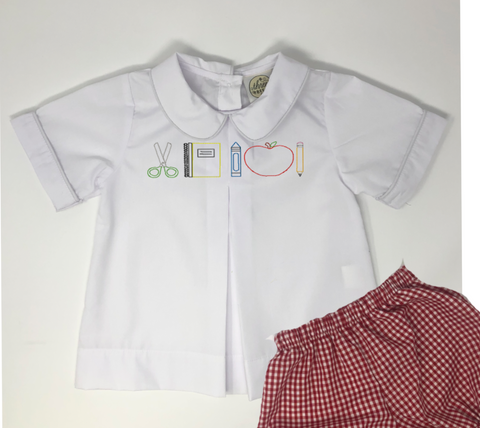Boy Vintage Stitch Back to School Pleat Shirt