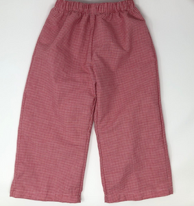Gingham Straight Pant