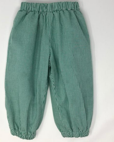 Gingham Elastic Banded Pant
