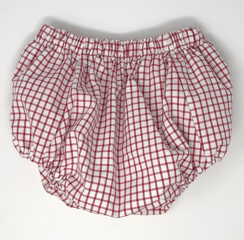 Unisex Windowpane Diaper Cover