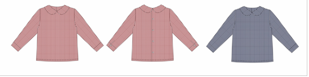 PREORDER Gingham Henry Top