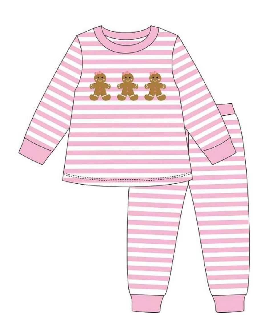 PREORDER Gingerbread Lounge Wear Girls