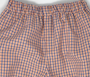 Tri-Check Gingham Boy Elastic Banded Pants