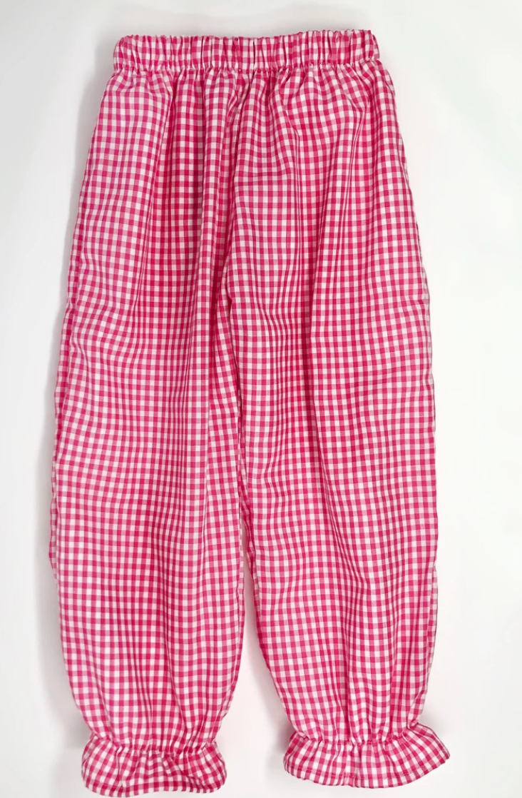Gingham Girl Pantaloon Pants