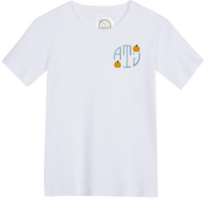 Boy Pumpkin Left Side Monogram Shirt