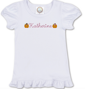 Girl Name Pumpkin Shirt