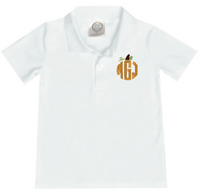 Boy Circle Pumpkin Polo