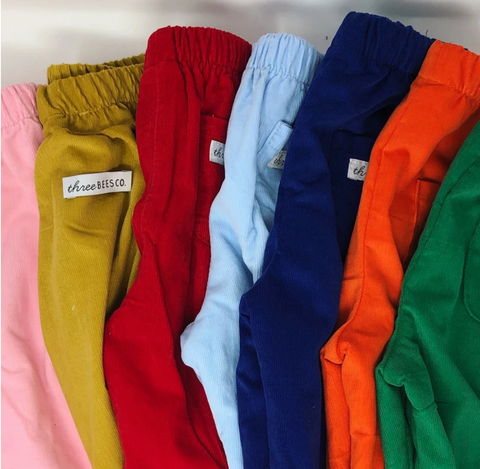 Cord Elastic Banded Pant