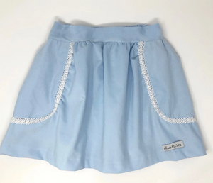 Cord Straight Skirt with Pockets