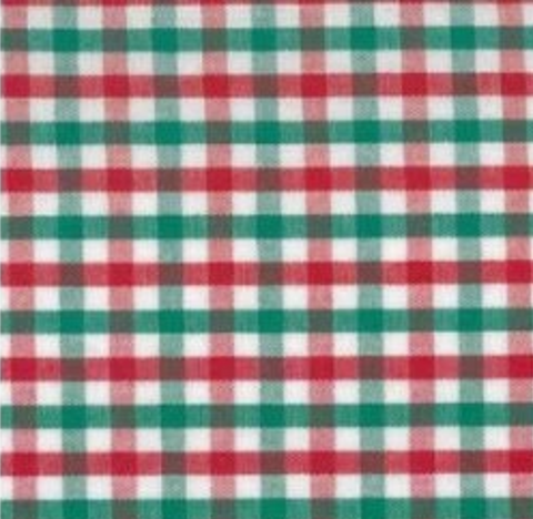 Red and Green Gingham Girl Bottoms (multiple styles)