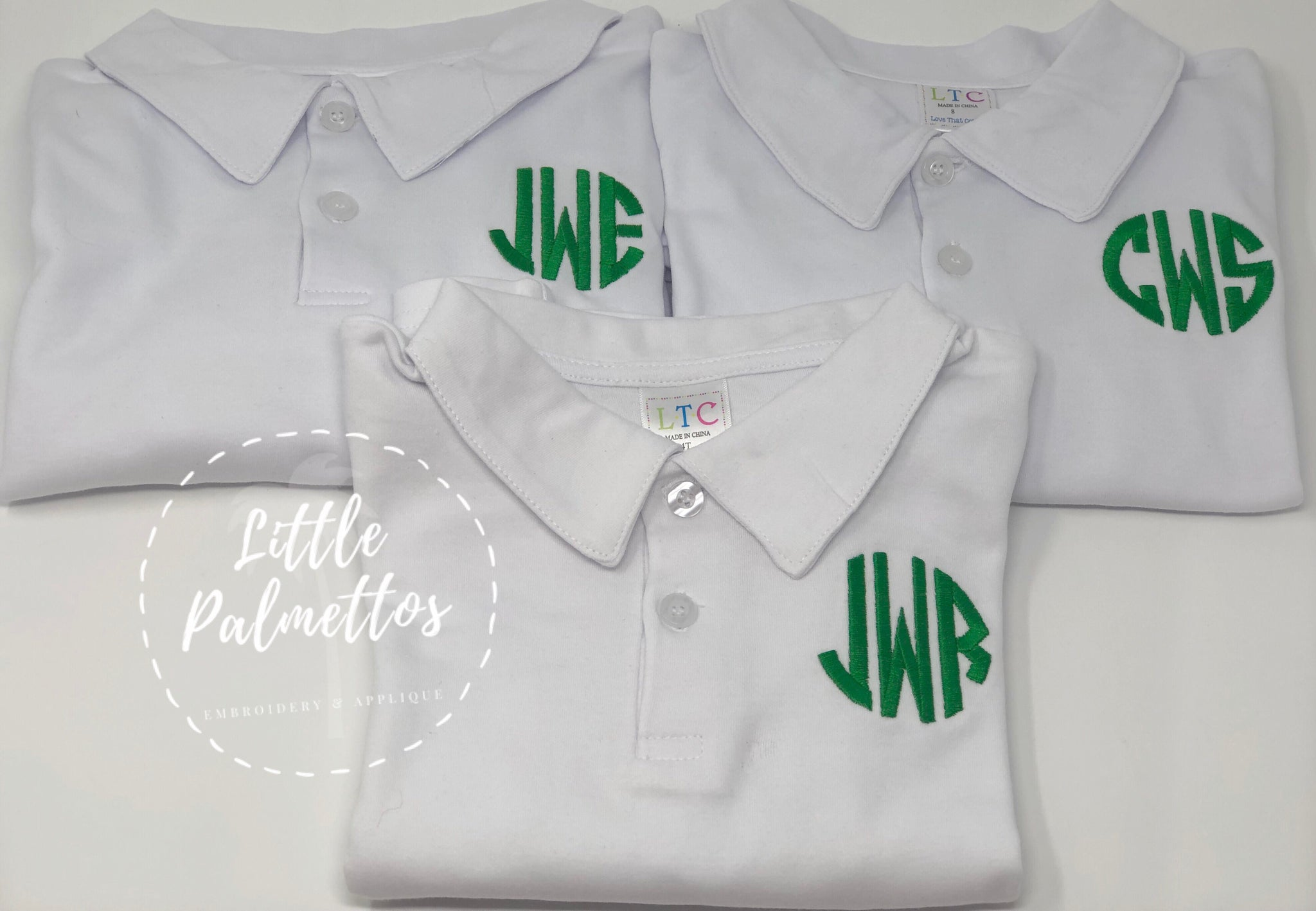 Short Sleeve Initial Polo