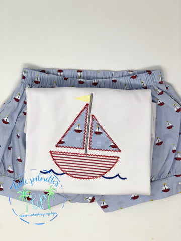 Sailboat Microcheck Blue Gingham Shorts