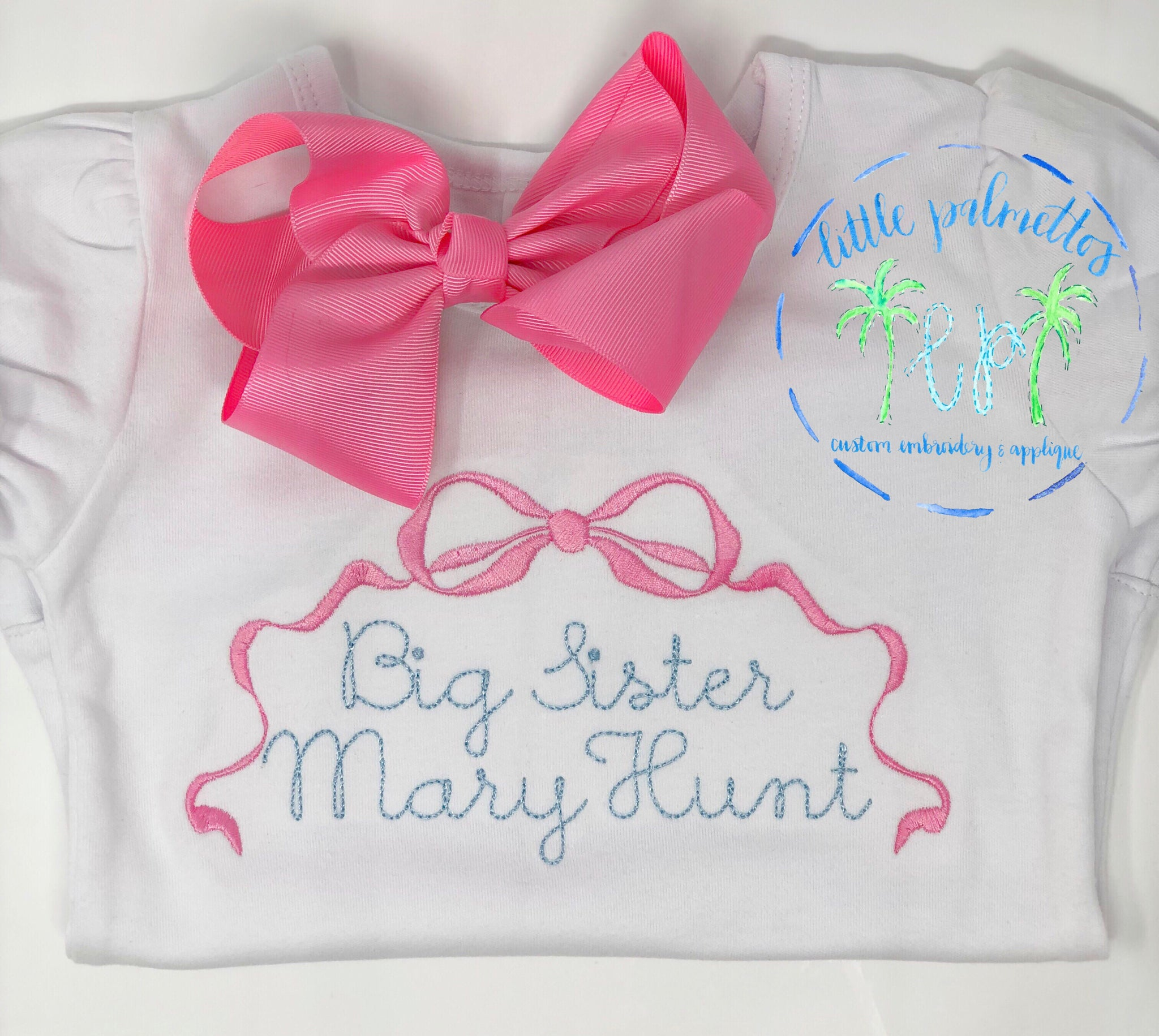 Big Sister Bow Shirt