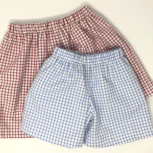 Boy Windowpane Shorts (Multiple Styles)