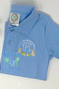 Bunny Circle Monogram Polo