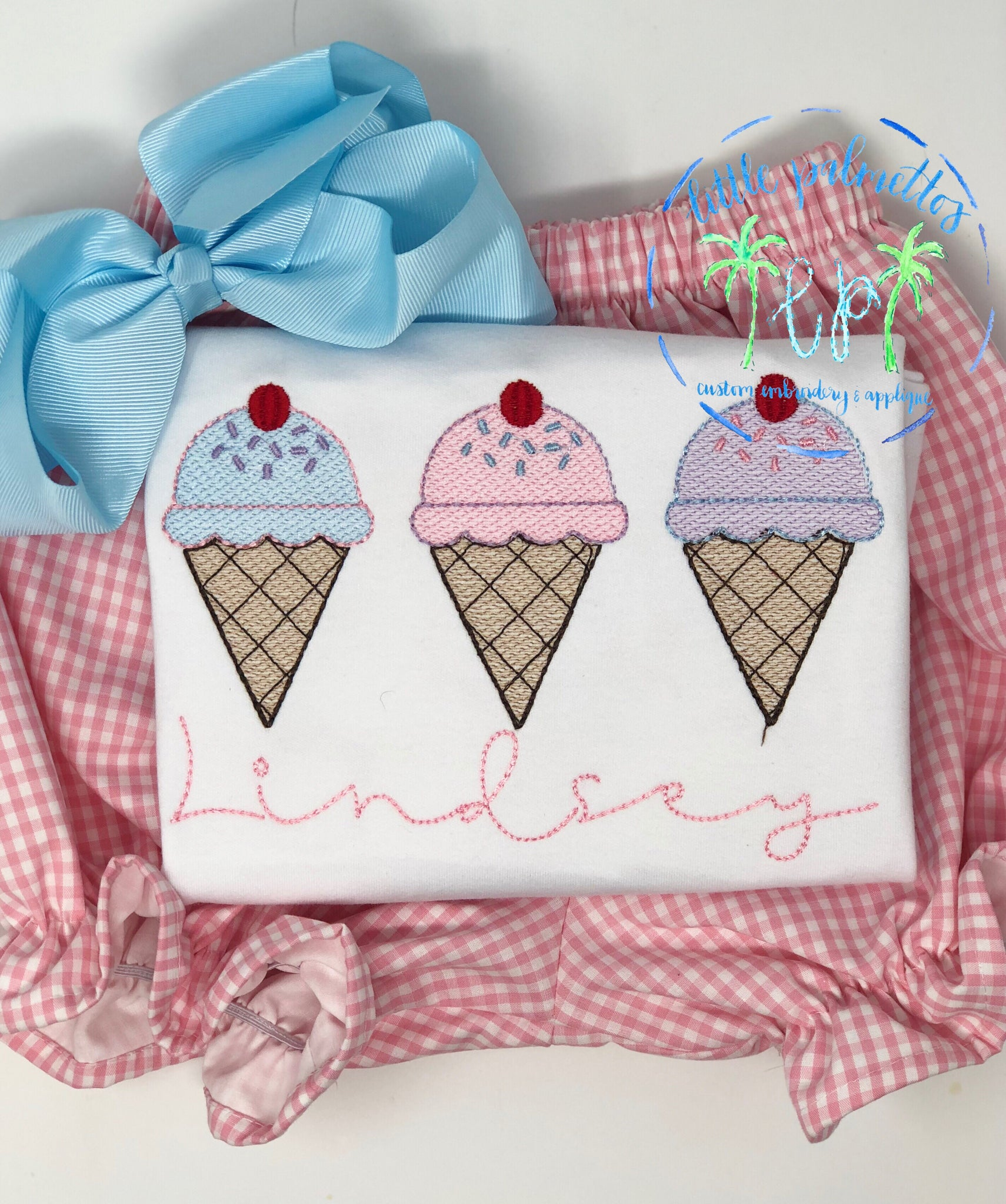 Girl Ice Cream Trio Tshirt