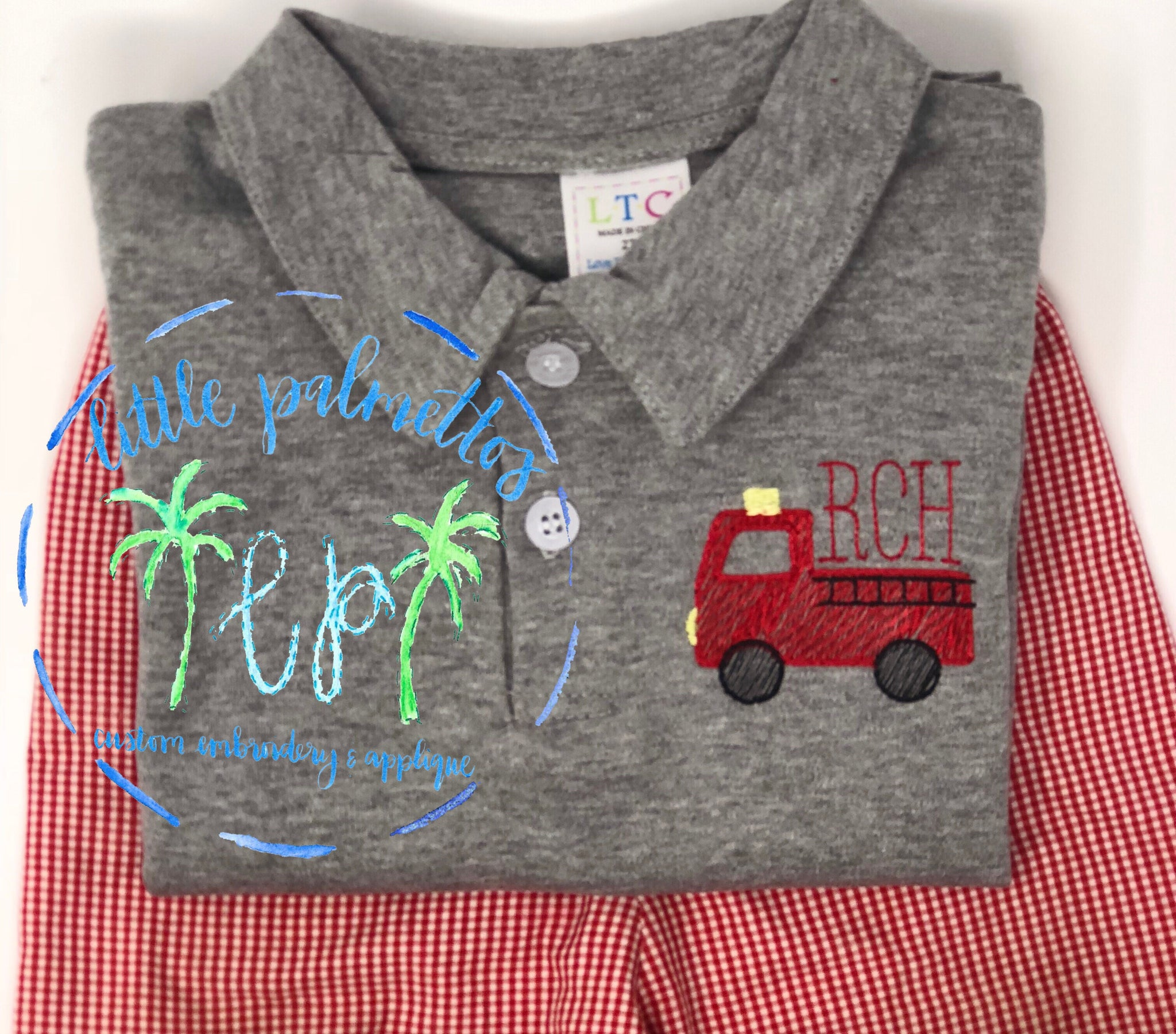 Firetruck Collared Shirt (white shirt unless otherwise stated)