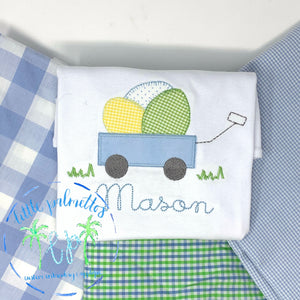 Egg Wagon Applique Shirt